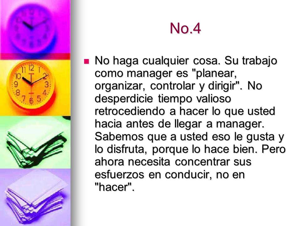 No.5 No se puede compensar un mal arranque.