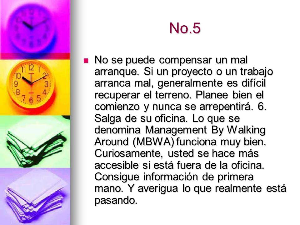 No.6 Conduzca con el ejemplo.