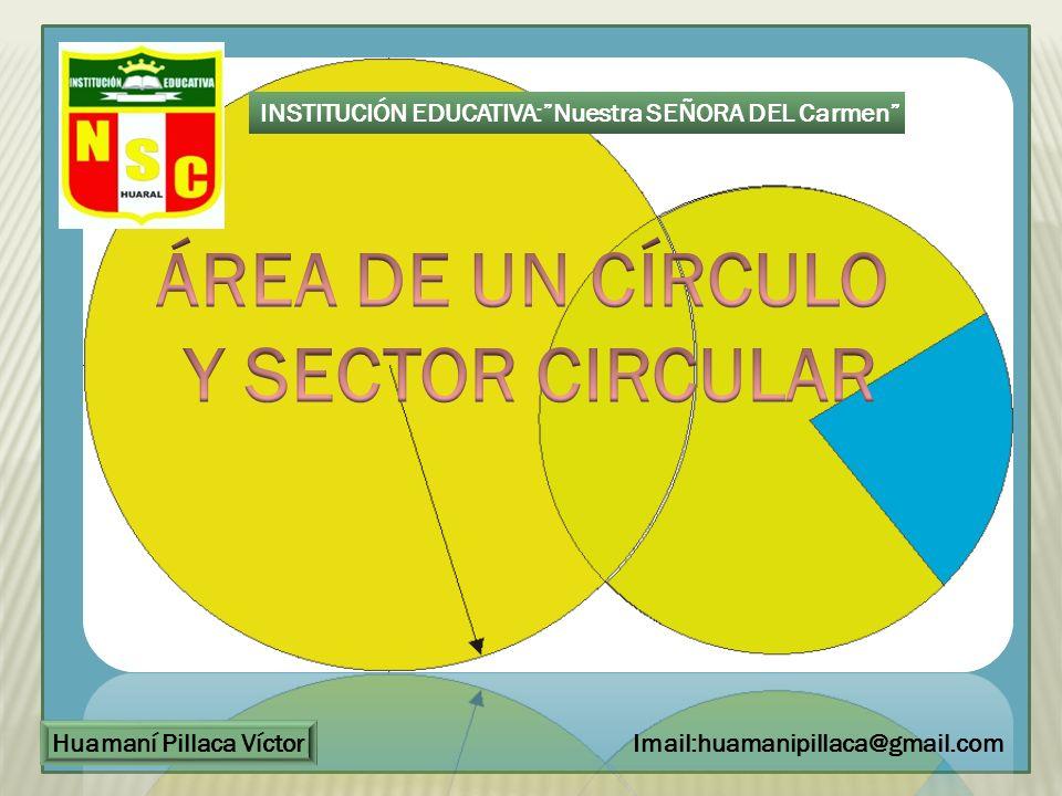 ccc INSTITUCIÓN EDUCATIVA:Nuestra SEÑORA DEL Carmen Huamaní Pillaca Víctor Imail:huamanipillaca@gmail.com