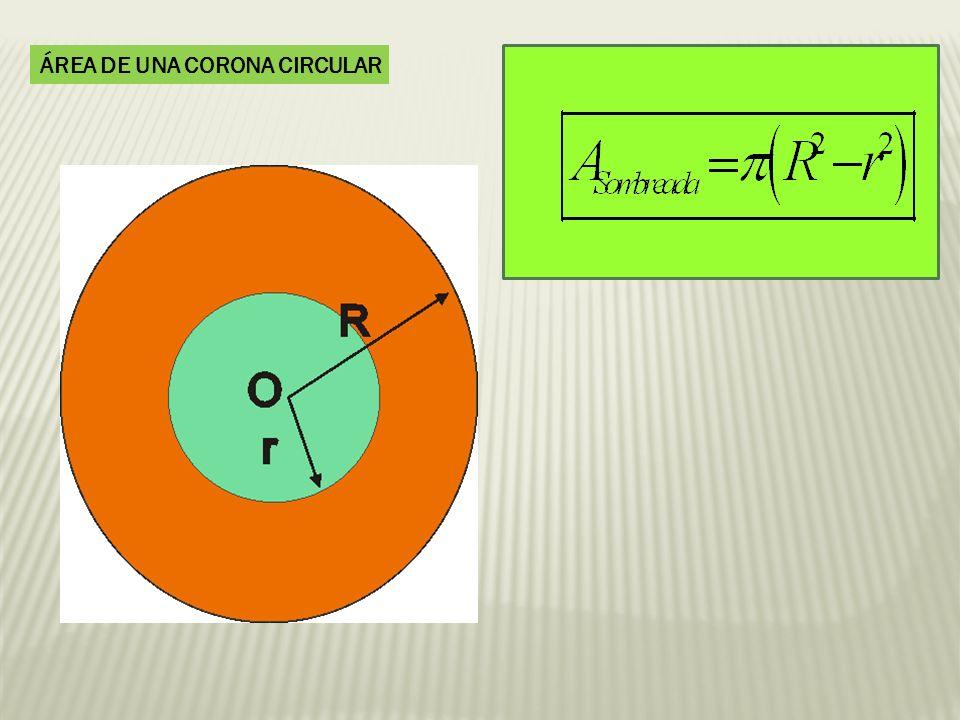 ÁREA DE UNA CORONA CIRCULAR