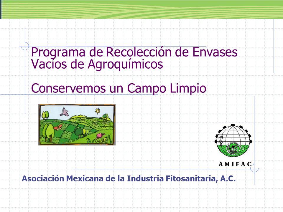 Programa de Recolección de Envases Vacíos de Agroquímicos Conservemos un Campo Limpio Asociación Mexicana de la Industria Fitosanitaria, A.C.