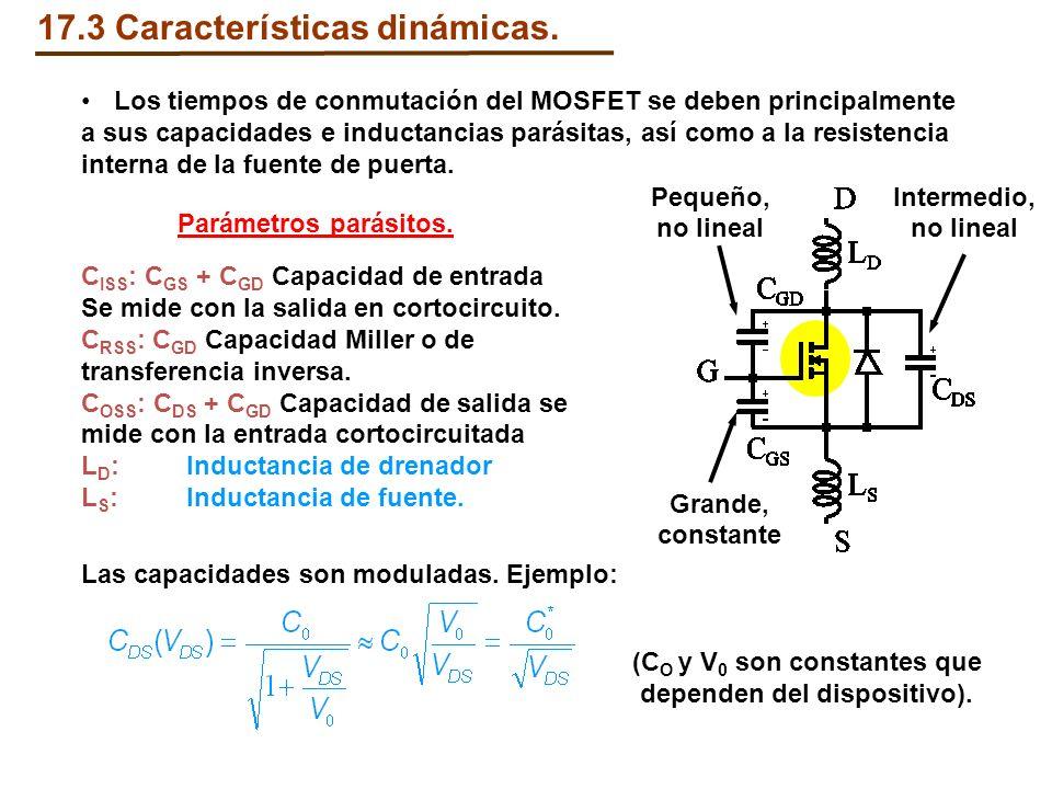 Los tiempos de conmutación del MOSFET se deben principalmente a sus capacidades e inductancias parásitas, así como a la resistencia interna de la fuen