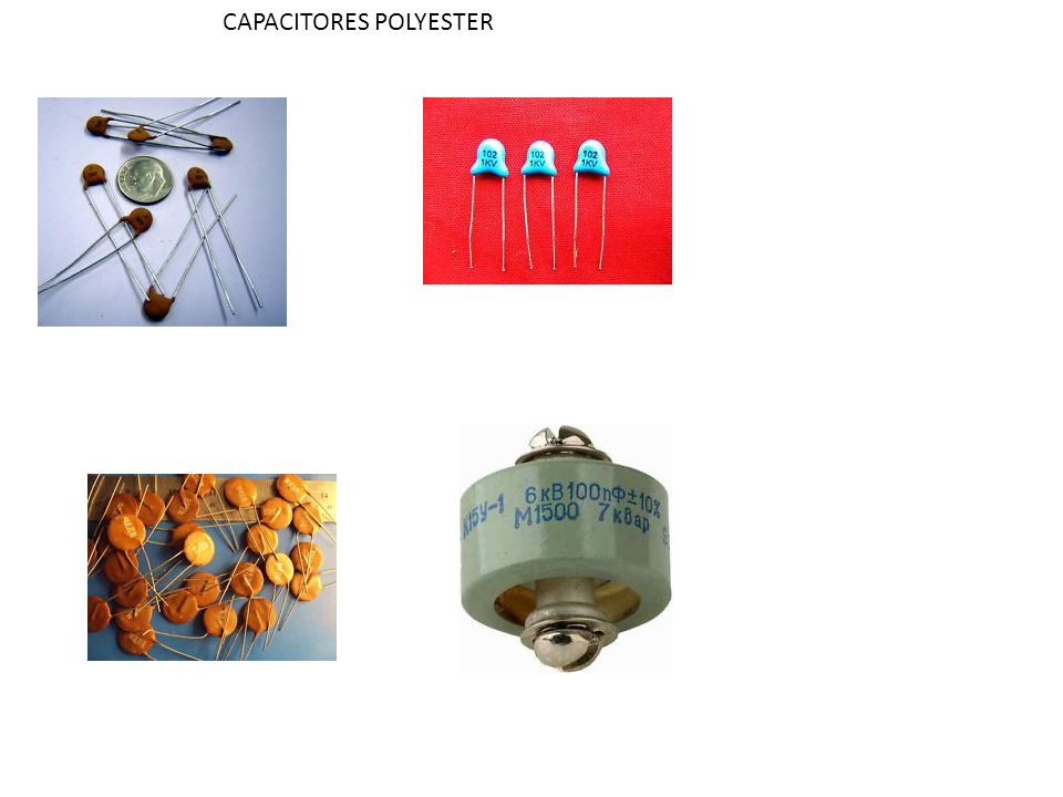 CAPACITORES POLYESTER