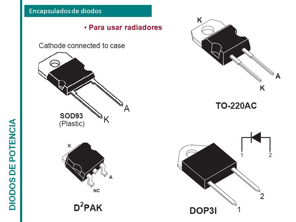 Encapsulados de diodos DIODOS DE POTENCIA Para usar radiadores