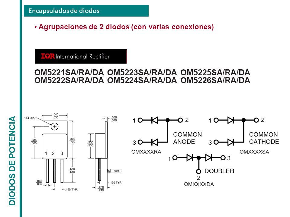 Encapsulados de diodos DIODOS DE POTENCIA Agrupaciones de 2 diodos (con varias conexiones)
