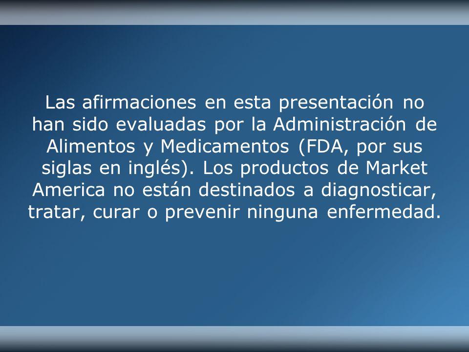 Las afirmaciones en esta presentación no han sido evaluadas por la Administración de Alimentos y Medicamentos (FDA, por sus siglas en inglés). Los pro