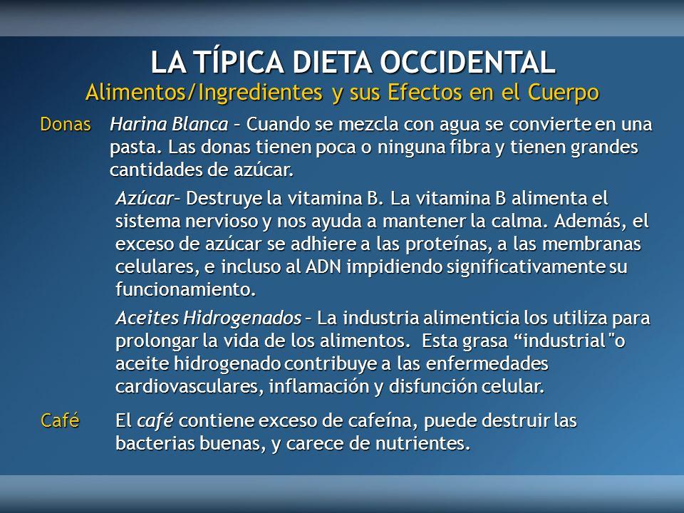 Alimentos/Ingredientes y sus Efectos en el Cuerpo Donas Harina Blanca – Cuando se mezcla con agua se convierte en una pasta. Las donas tienen poca o n