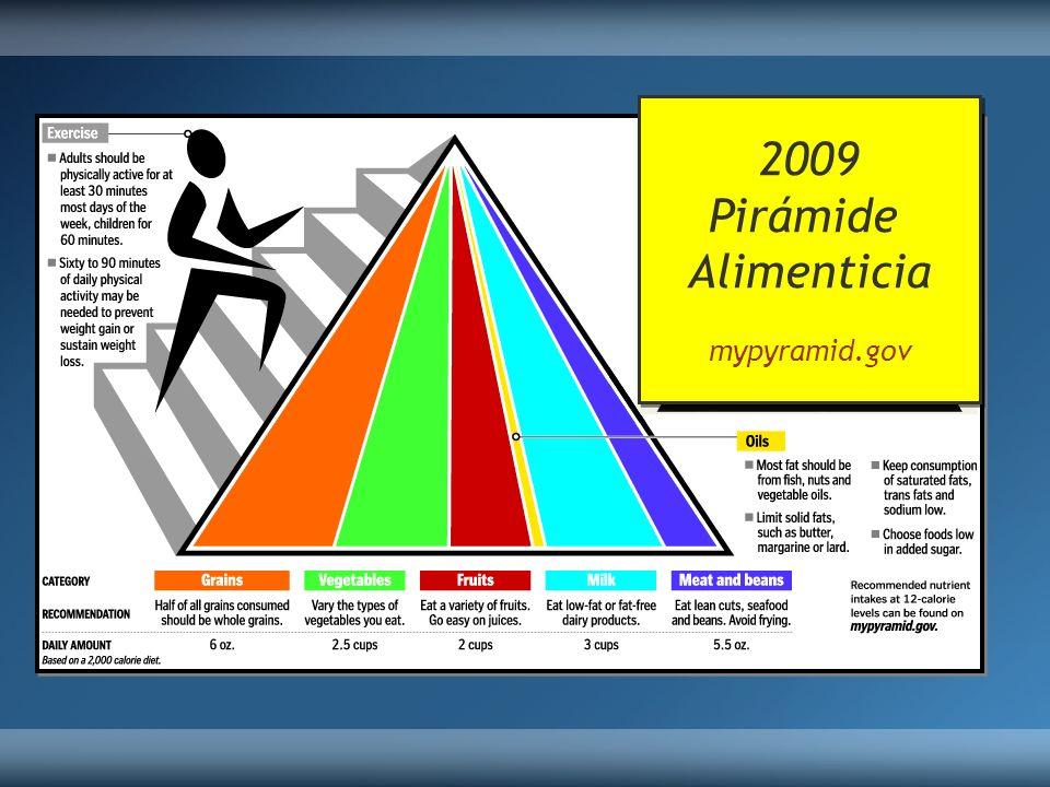 2009 Pirámide Alimenticia mypyramid.gov 2009 Pirámide Alimenticia mypyramid.gov