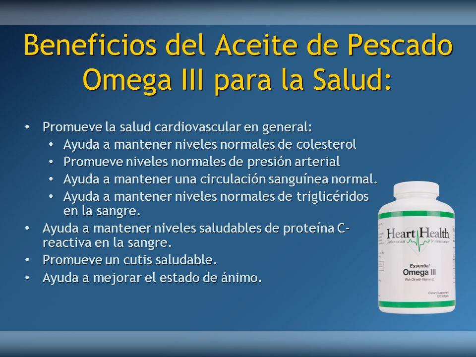 Beneficios del Aceite de Pescado Omega III para la Salud: Promueve la salud cardiovascular en general: Promueve la salud cardiovascular en general: Ay