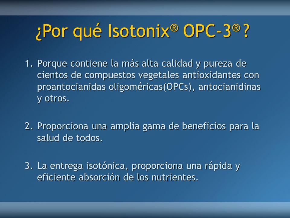 1.Porque contiene la más alta calidad y pureza de cientos de compuestos vegetales antioxidantes con proantocianidas oligoméricas(OPCs), antocianidinas