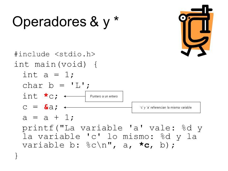 #include int main(void) { char[20] nombre; char *pnombre; strcpy (nombre, Maria ); nombre[4] = o ; Printf ( El valor de nombre es %s y su long: %d\n , nombre, strlen(nombre)); pnombre = (char*)malloc(sizeof(char)*20); if (!pnombre) { printf( Se asigno la memoria ); } else { printf( La asignación falló ); } free (pnombre); } Strings – cadenas