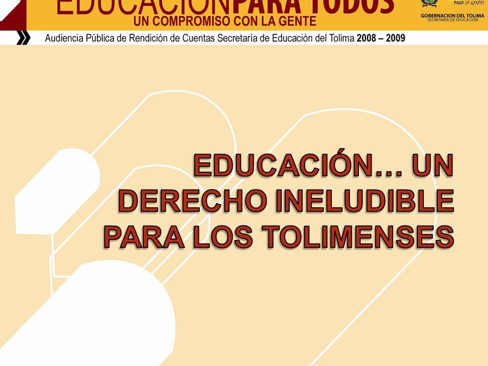 ESCUELAS CON CALIDAD PARA VIVIR MEJOR : RECURSO: 40.000.000 TOTAL DE BENEFICIADOS : 559 NIÑOS, NIÑAS Y ADOLESCENTES DE LAS INSTITUCIONES EDUCATIVAS DE CAJAMARCA, NATAGAIMA, MARIQUITA CON SUS RESPECTIVAS SEDES 180 EN CAJAMARCA 180 EN ORTEGA 199 EN NATAGAIMA