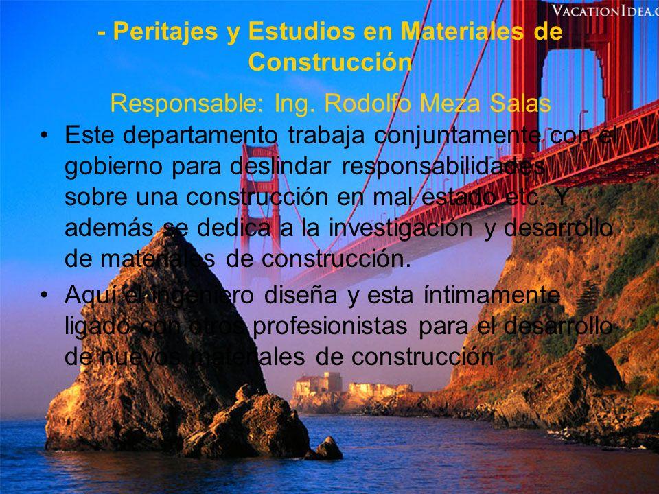 - Tecnología del Concreto Responsable: M.C.