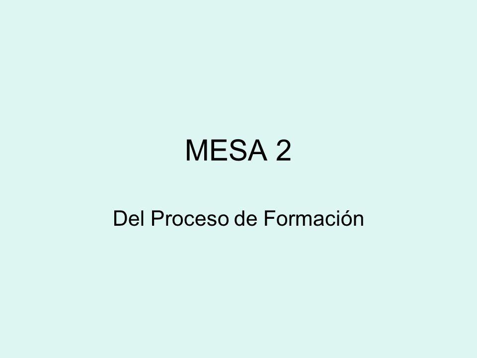 MESA 2 Del Proceso de Formación