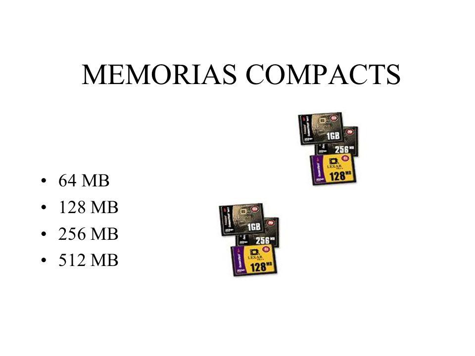 MEMORIAS COMPACTS 64 MB 128 MB 256 MB 512 MB