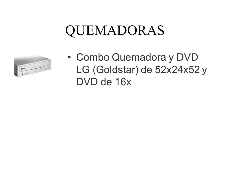 QUEMADORAS Combo Quemadora y DVD LG (Goldstar) de 52x24x52 y DVD de 16x