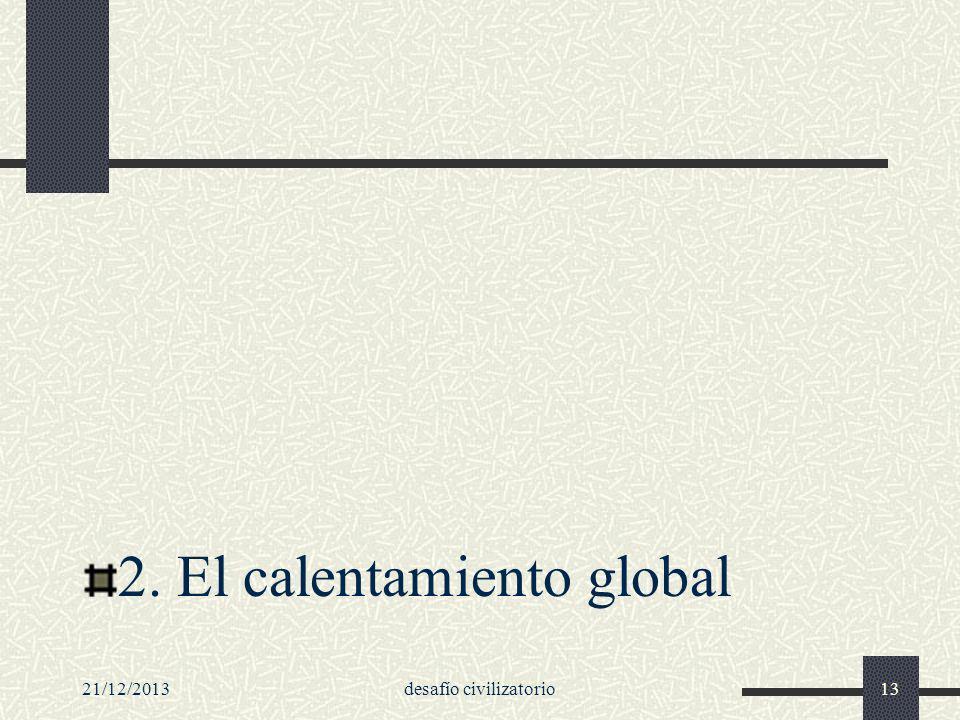 21/12/2013desafío civilizatorio13 2. El calentamiento global