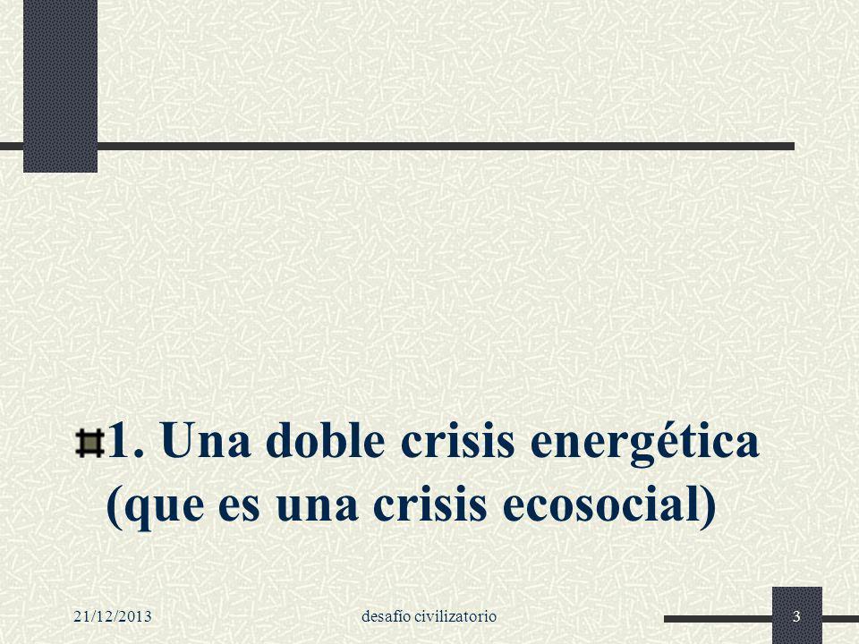 21/12/2013desafío civilizatorio134 Cobrar conciencia del peligro...