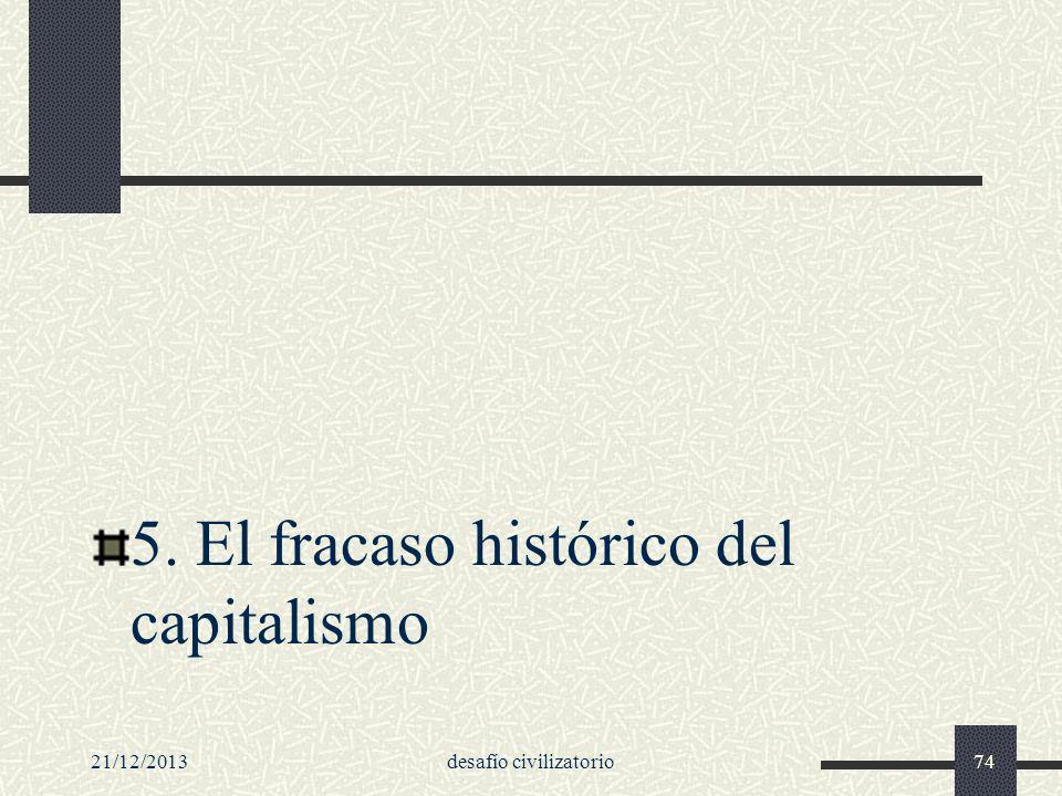21/12/2013desafío civilizatorio74 5. El fracaso histórico del capitalismo