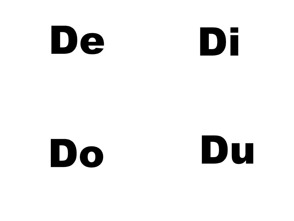 De Di Do Du