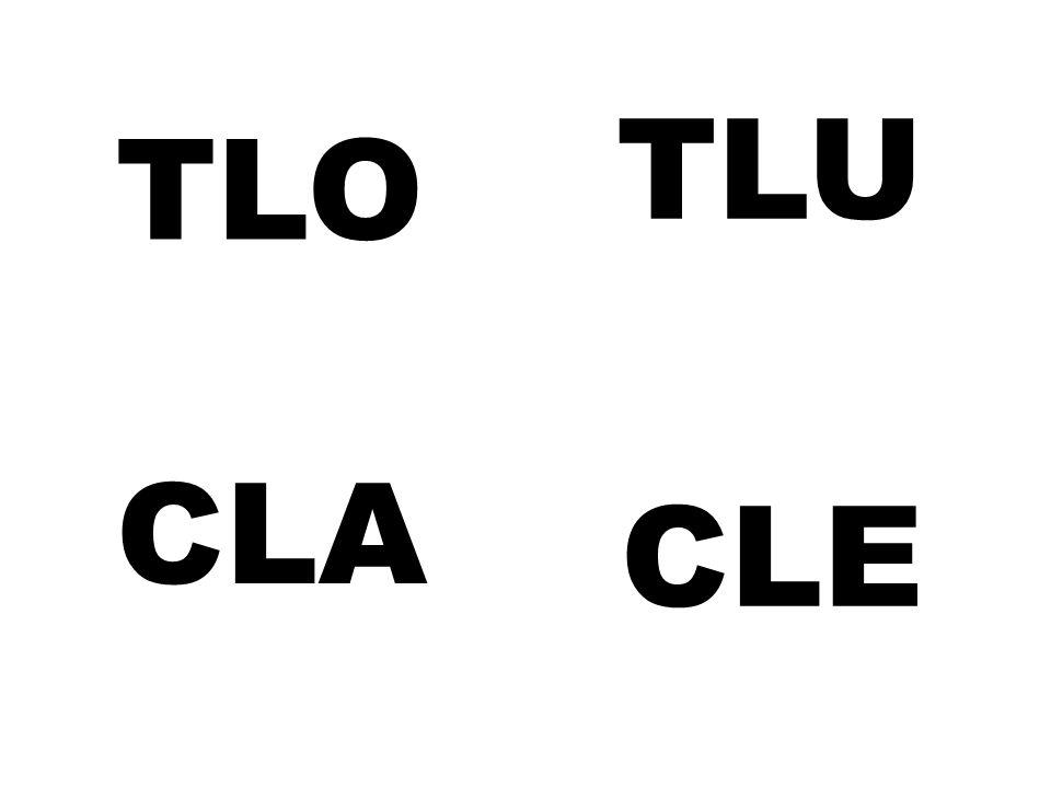 TLO TLU CLA CLE