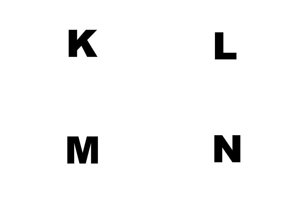 K L M N