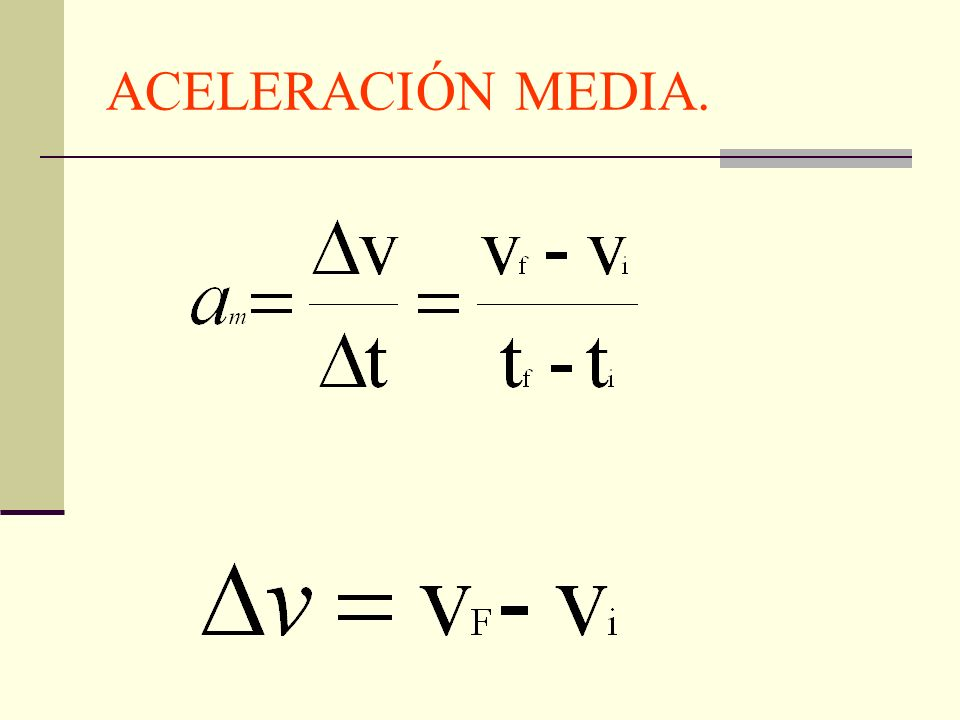 ACELERACIÓN MEDIA.