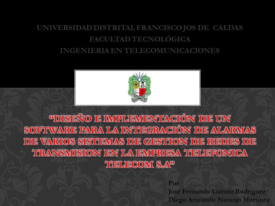 UNIVERSIDAD DISTRITAL FRANCISCO JOS DE CALDAS FACULTAD TECNOLÓGICA INGENIERIA EN TELECOMUNICACIONES Por José Fernando Garzón Rodríguez Diego Armando N