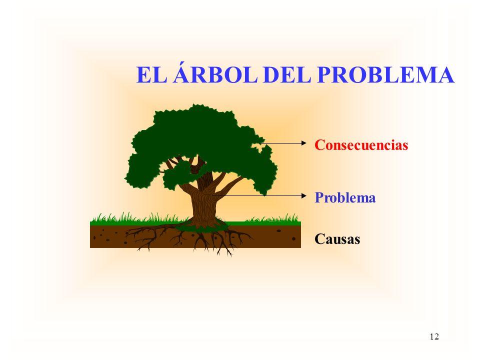 Problema Focal DESARROLLO DEL ARBOL DEL PROBLEMA Dirección de las Causas Dirección de los Efectos 11