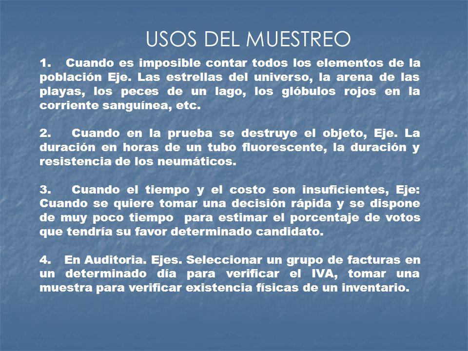 METODOS DE SELECCION DE MUESTRAS A.) POR EL NUMERO DE MUESTRAS A SELECCIONAR EL MUESTREO PUEDE SER: - SIMPLE - DOBLE - MÚLTIPLE B.) POR LA MANERA DE ELEGIR LOS ELEMENTOS DE LA MUESTRA.