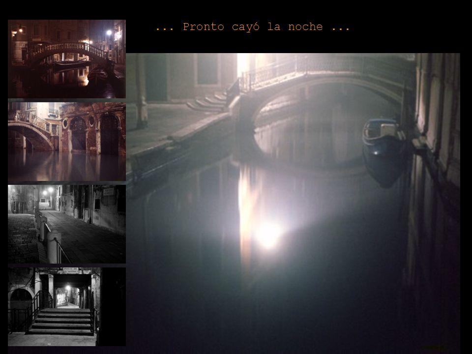 ... A la mañana siguiente, comenzó mi último día en Venecia...