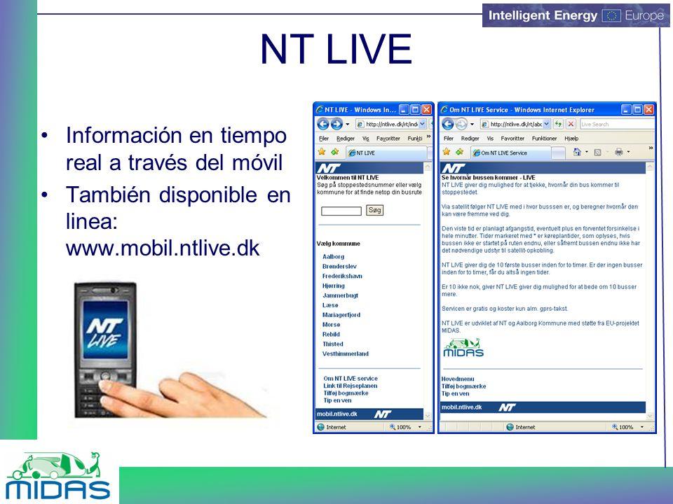 NT LIVE Información en tiempo real a través del móvil También disponible en linea: www.mobil.ntlive.dk