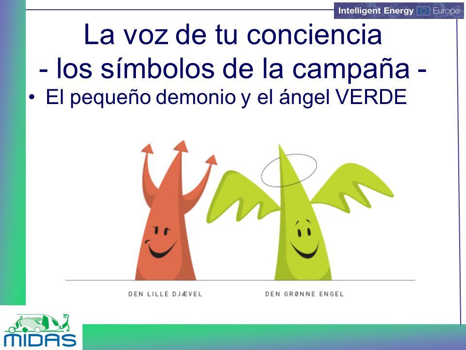 La voz de tu conciencia - los símbolos de la campaña - El pequeño demonio y el ángel VERDE