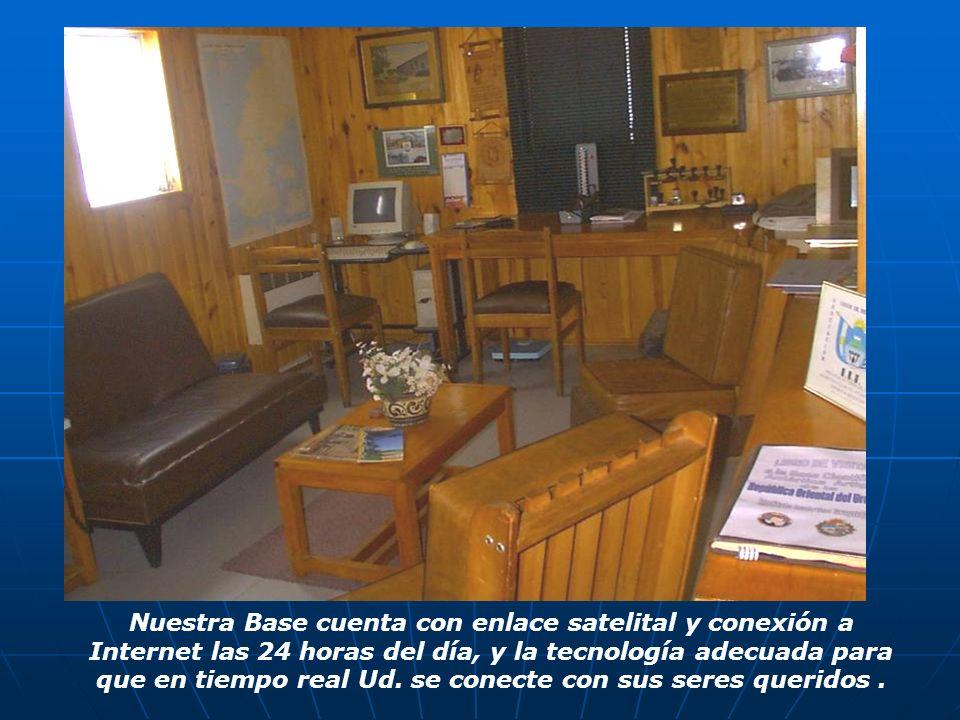 Nuestra Base cuenta con enlace satelital y conexión a Internet las 24 horas del día, y la tecnología adecuada para que en tiempo real Ud.