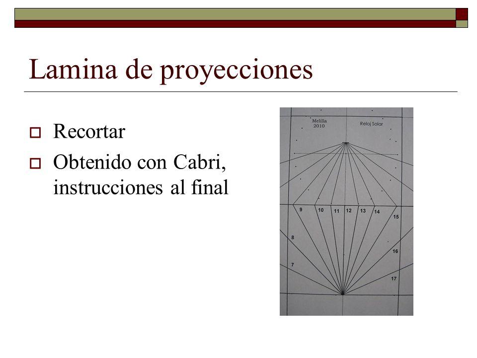 Lamina de proyecciones Recortar Obtenido con Cabri, instrucciones al final