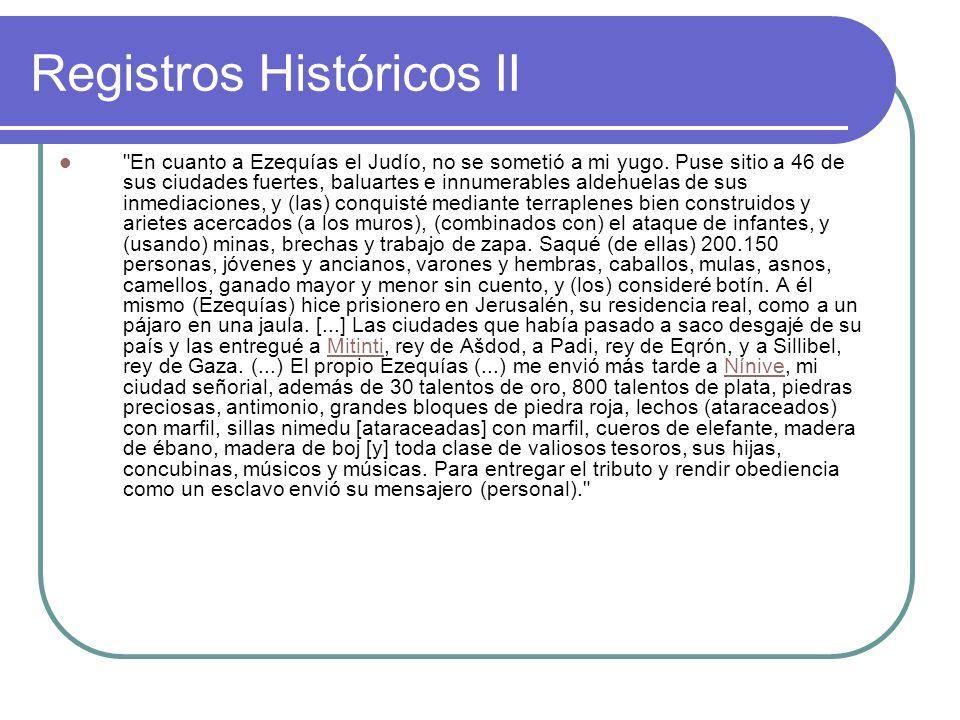 Registros Históricos II