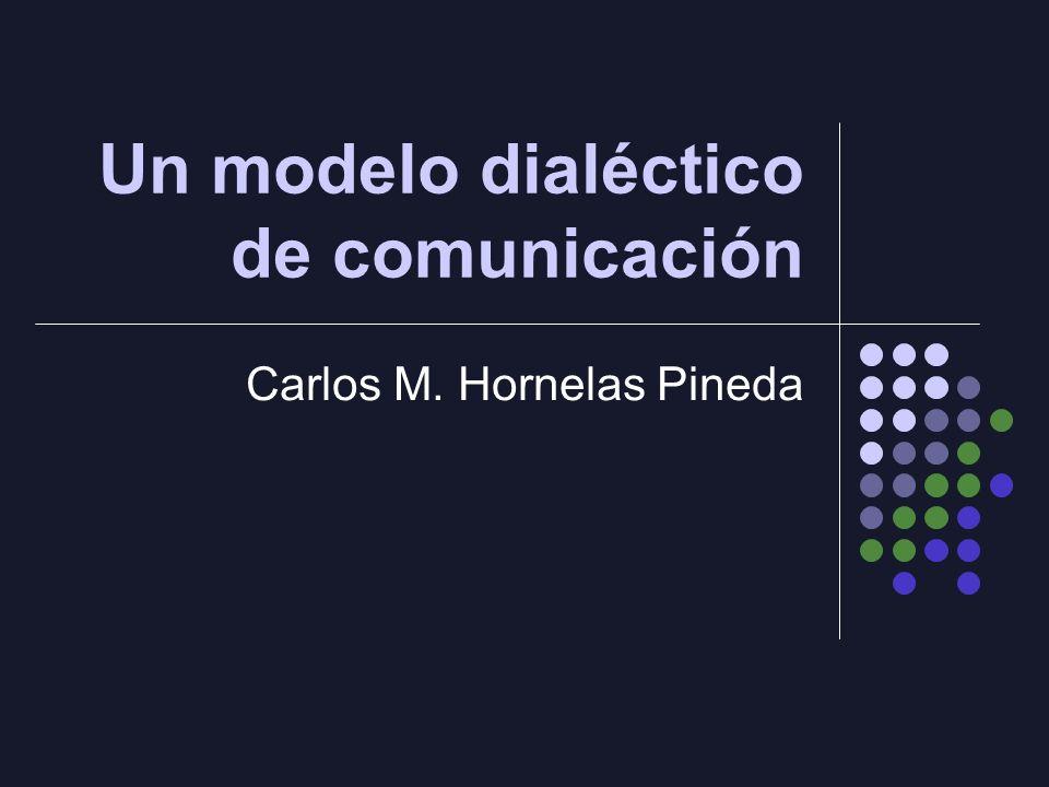 Un modelo dialéctico de comunicación Carlos M. Hornelas Pineda