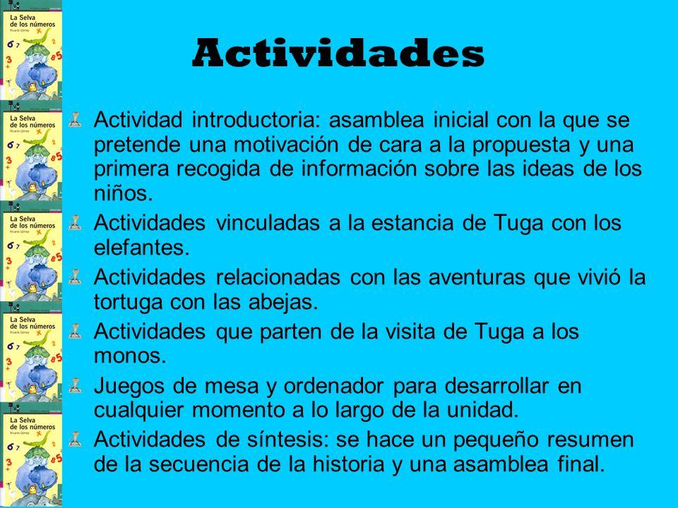 Actividades Actividad introductoria: asamblea inicial con la que se pretende una motivación de cara a la propuesta y una primera recogida de información sobre las ideas de los niños.