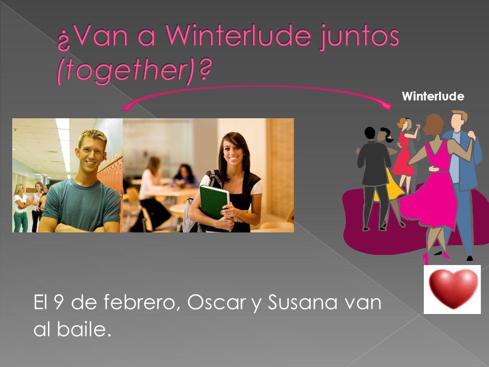 El 9 de febrero, Oscar y Susana van al baile. Winterlude