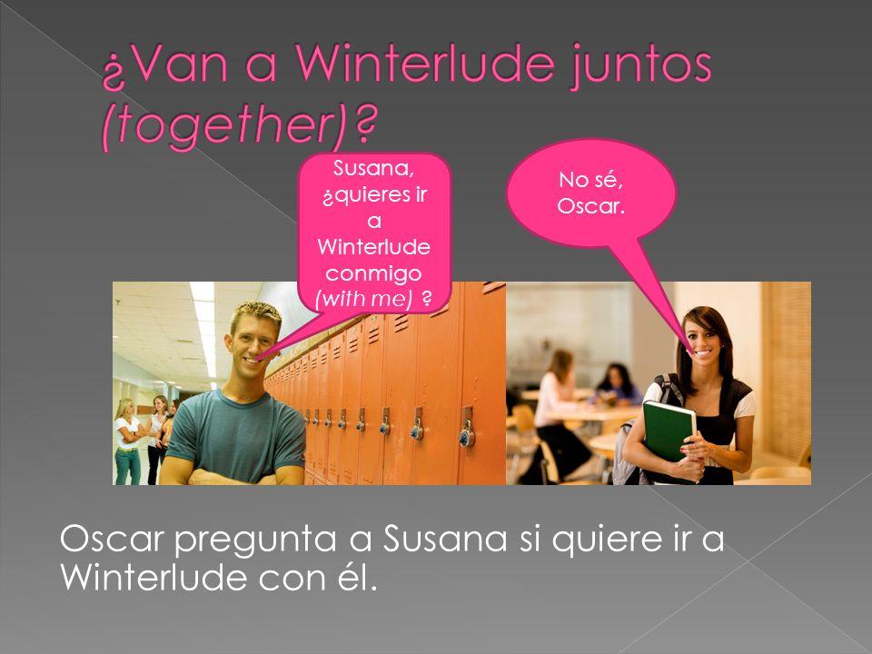 Oscar pregunta a Susana si quiere ir a Winterlude con él.