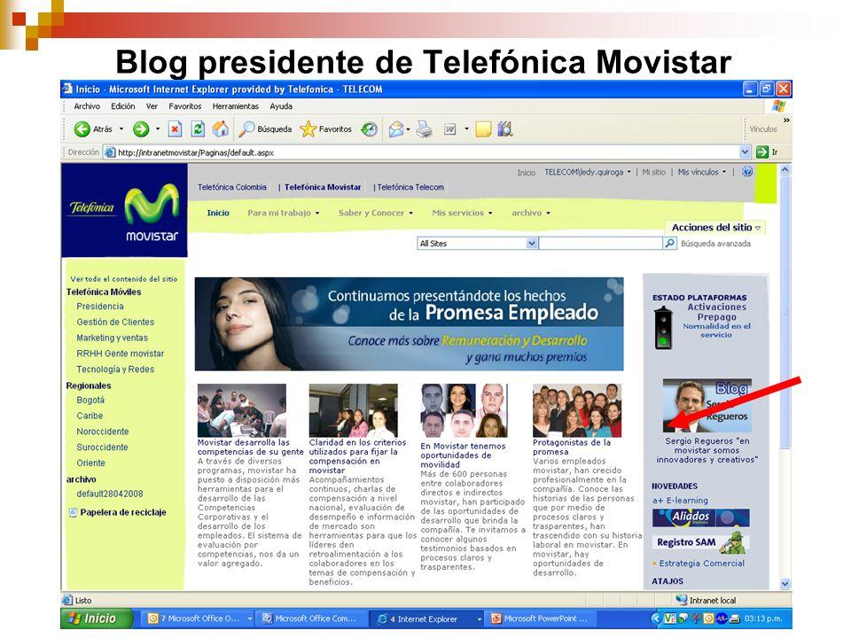 Blog presidente de Telefónica Movistar