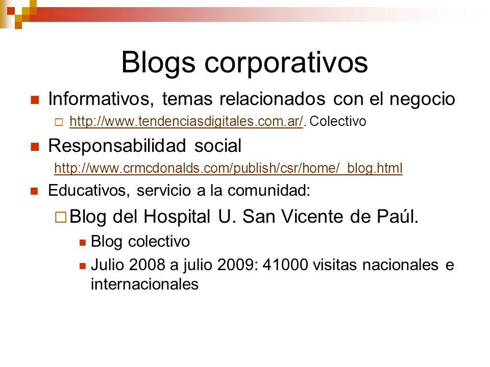 Blogs corporativos Informativos, temas relacionados con el negocio http://www.tendenciasdigitales.com.ar/. Colectivo http://www.tendenciasdigitales.co