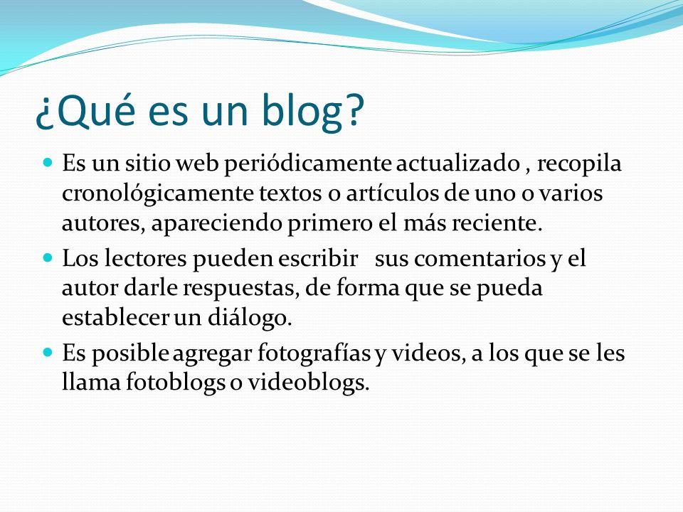 ¿Qué es un blog.