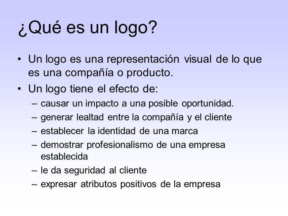 Tipos de logos Logos a base de tipos Logos ilustrativos- ilustran lo que hace una compañía Logos abstractos- consisten de un símbolo (por ejemplo, la marca Nike).
