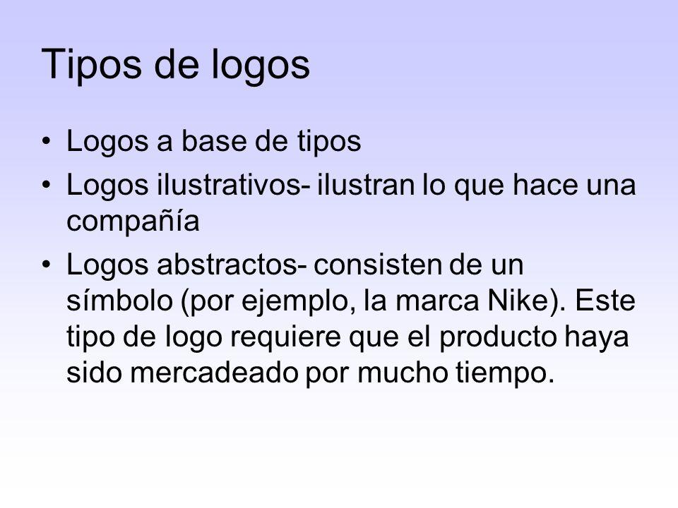 Lo importante de un logo es que el consumidor pueda identificar la compañía o el producto.