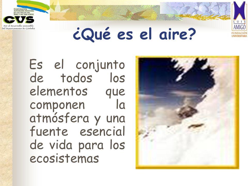¿Qué es el aire? Es el conjunto de todos los elementos que componen la atmósfera y una fuente esencial de vida para los ecosistemas