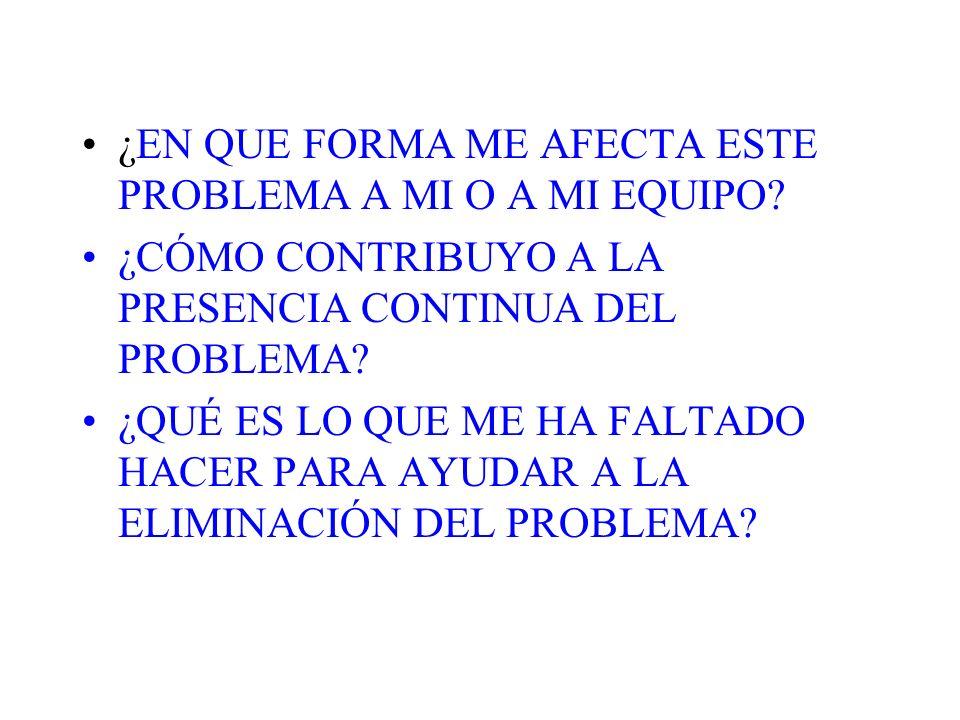 SEGUNDO PASO ANALIZAR Y ACLARAR EL PROBLEMA ¿QUIÉN CONSIDERA ESTO COMO UN PROBLEMA.