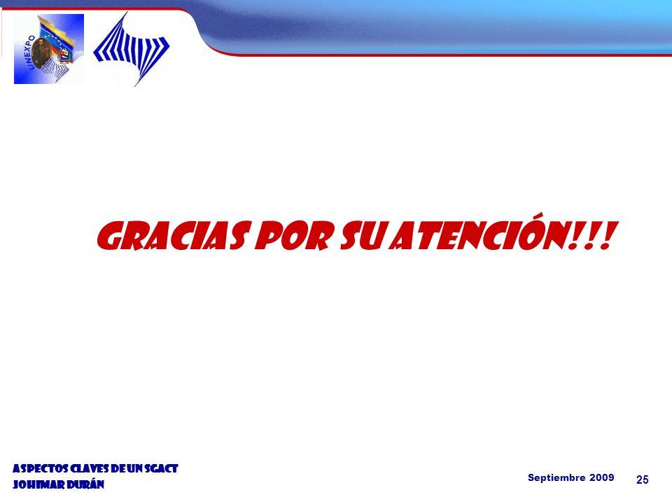 Septiembre 2009 25 GRACIAS POR SU ATENCIÓN!!.