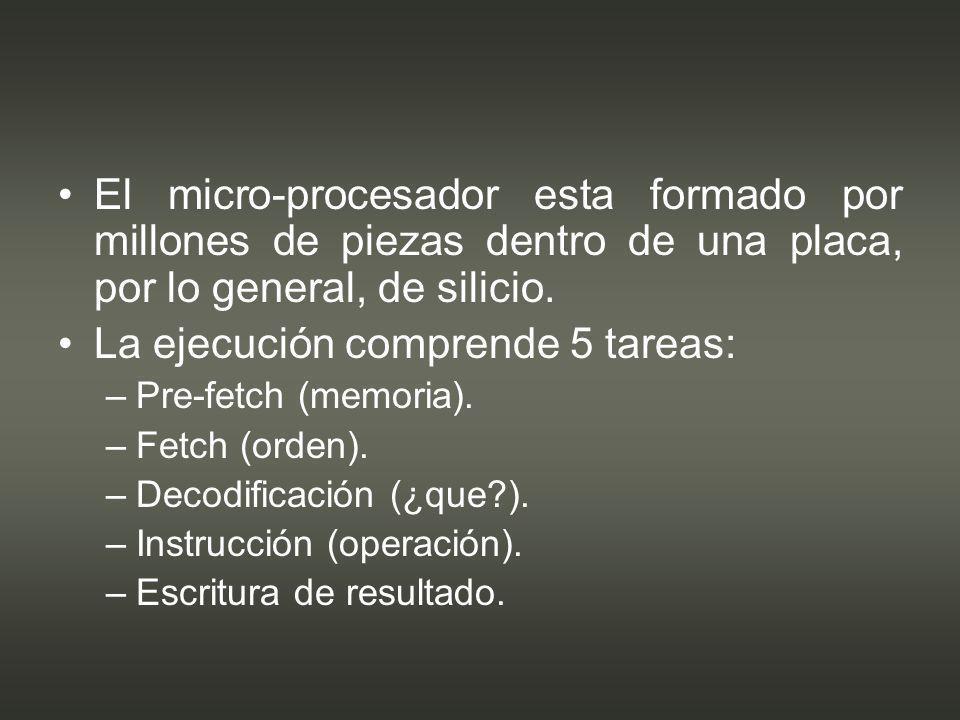 Tipos de procesador.–C–Cyrix – Transmeta. –O–Otros.