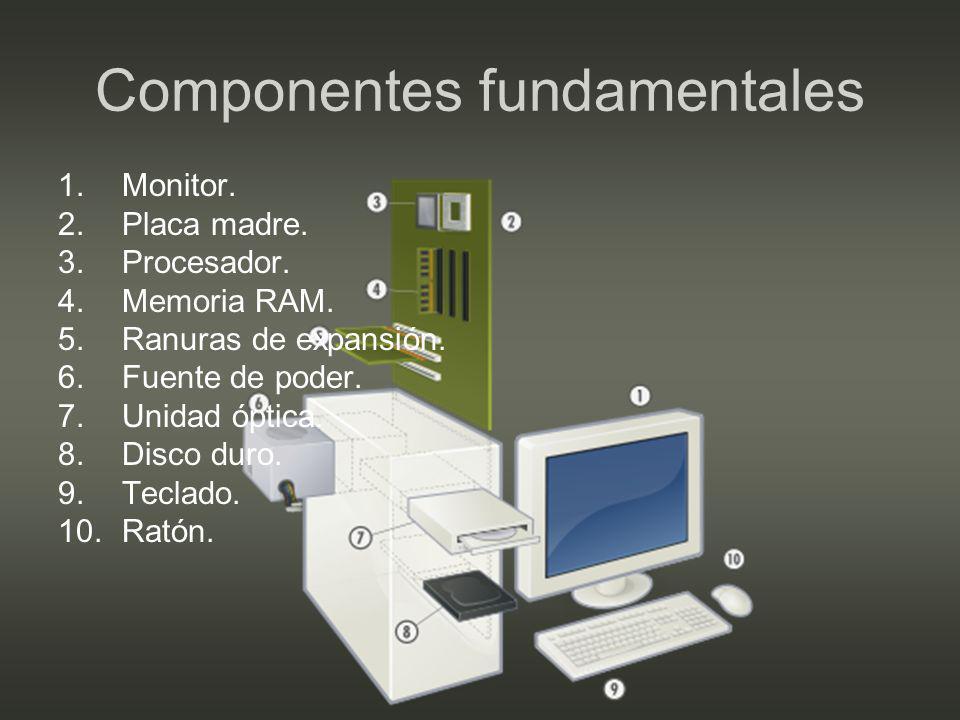 Monitor Dispositivo de salida por excelencia.Muchos computadores antiguos no poseían uno.